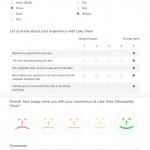 Customer Satisfaction Survey Result for Bethany following an Osteopathy Consult at Lake View Osteopathy